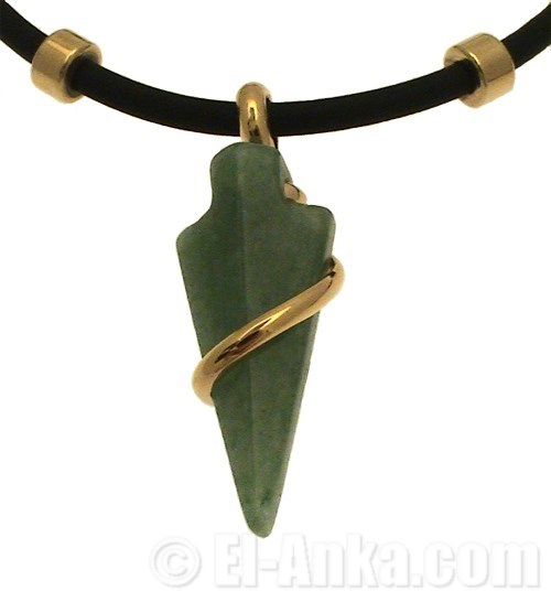 aventurine arrow necklace. Black Bedroom Furniture Sets. Home Design Ideas